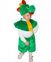 Детский костюм дракона (головной убор, накидка, бриджи)