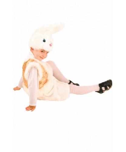 Костюм белого зайчика: головной убор, жилетка, шорты (Россия)