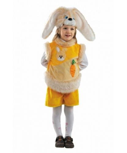 Детский костюм зайчика: головной убор, жилетка, шорты (Россия)