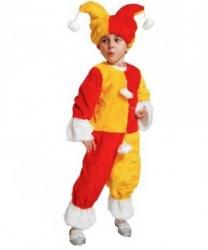 Детский красно-желтый костюм клоуна