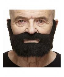 Короткая черная борода