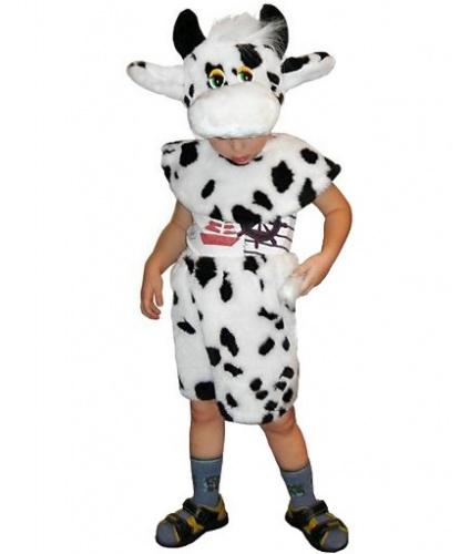 Костюм коровы: головной убор, накидка, бриджи (Россия)