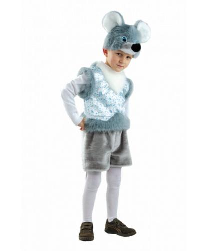 Детский костюм серой мышки: головной убор, жилетка, шорты (Россия)