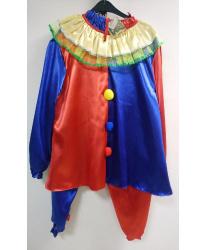 Костюм клоуна красно-синий