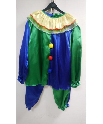 Костюм клоуна сине-зеленый: кофта, брюки (Польша)