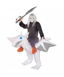 """Надувной костюм-наездник """"Верхом на белом драконе"""""""