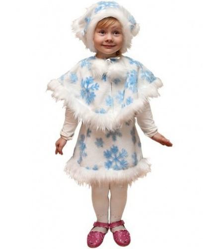 Костюм снежинки: воротник, головной убор, юбка (Россия)