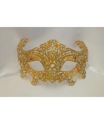 Карнавальная, ажурная маска (золото)