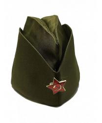 Пилотка с советской звездой