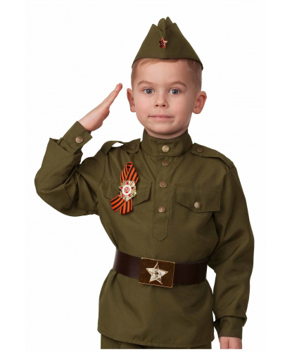 Гимнастерка и пилотка Солдат: Гимнастерка, пилотка, георгиевская лента. Россия