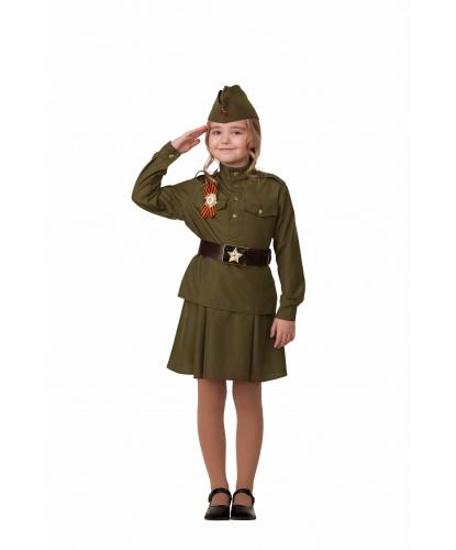 Костюм Солдатка. Гимнастерка, ремень, юбка , пилотка георгиевская лента. Россия