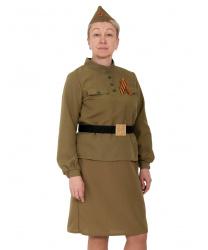 Женский костюм военной
