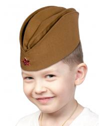 Детская пилотка с металлической звездой