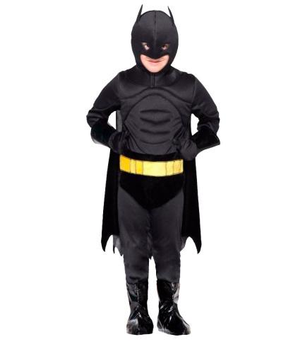 Костюм Бэтмана : комбинезон, маска, накладка на обувь, перчатки, плащ, пояс (Италия)