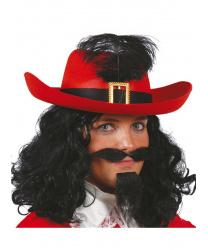 Красная мушкетерская шляпа