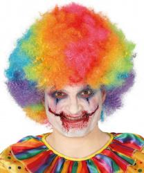Разноцветный клоунский парик