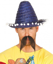 Мексиканское мини-сомбреро, синее