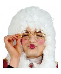 Круглые очки без стекол (золотые)