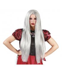 Длинный седой парик