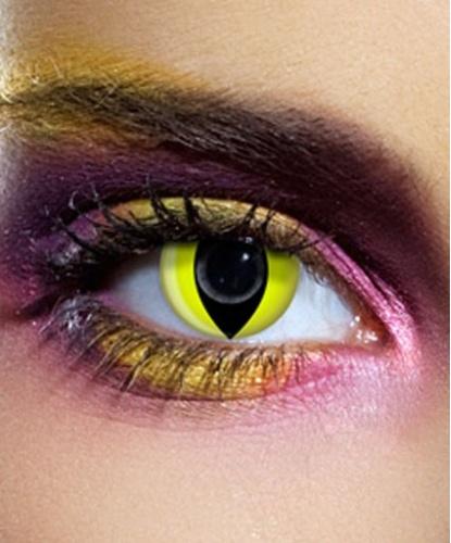 Линзы Кошачий глаз, без диоптрий, срок ношения 90 дней (Великобритания)