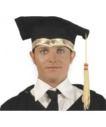 Шапка выпускника с золотой тесьмой