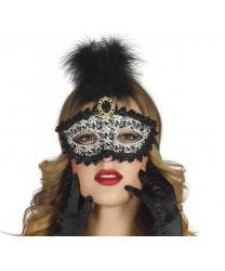 Карнавальная маска в цветочный орнамент