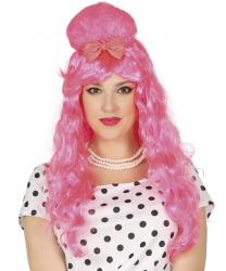 """Розовый парик """"Пин-ап"""""""