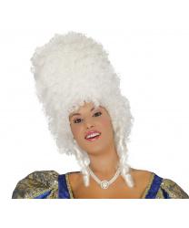 """Белый высокий парик """"Барокко"""""""