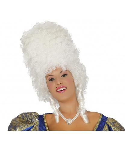 """Белый высокий парик """"Барокко"""": белый (Испания)"""