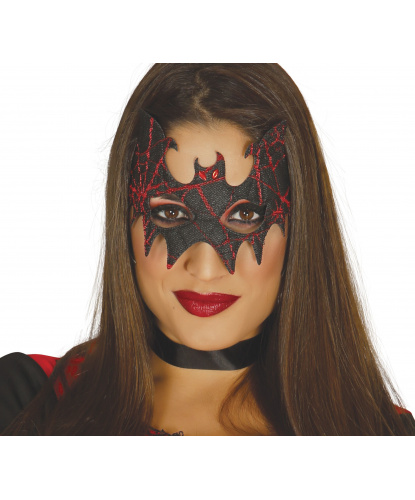 Черно-красная маска Летучая мышь, стразы, полиэстер (Испания)