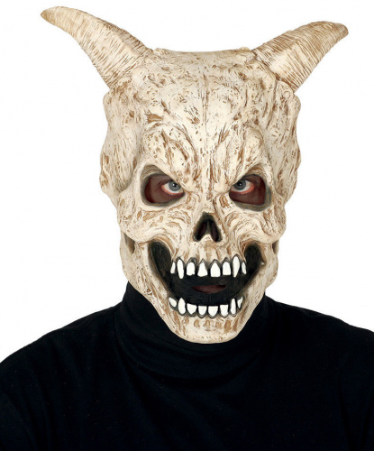 Латексная маска Череп демона, латекс (Испания)