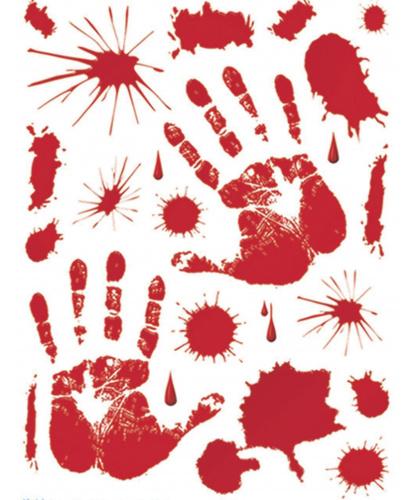 Набор наклеек Кровавые пятна