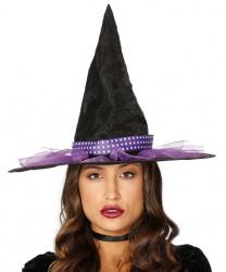 Черный колпак с фиолетовой лентой