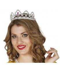 Серебряная диадема-корона