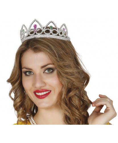 Серебряная диадема-корона, пластик (Испания)