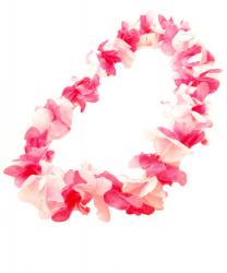 Ярко-розовое гавайское ожерелье