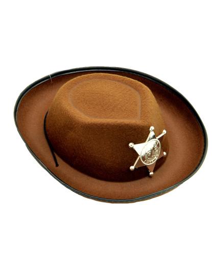 Детская коричневая шляпа шерифа (Германия)