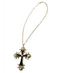 Металлический крест на цепочке