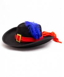 Черная мушкетерская шляпа
