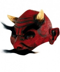 Латексная полумаска дьявола