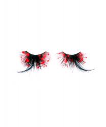 Черные накладные ресницы в красный горошек