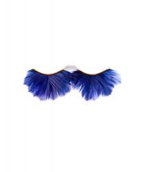 Накладные ресницы из синих перьев