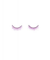 Фиолетовые накладные ресницы (без клея)