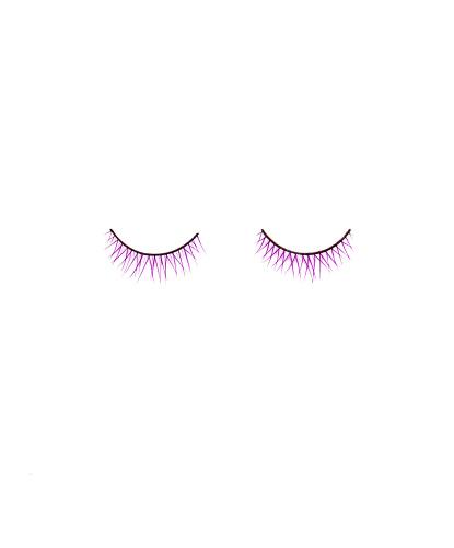 Фиолетовые накладные ресницы (без клея): ресницы 2 шт. (Китай)