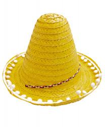 Мексиканское мини-сомбреро, желтое