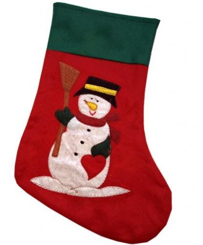 Новогодний носок Снеговик