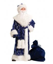 Дед мороз плюшевый синий