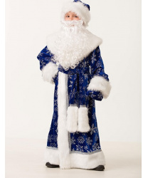Дед Мороз велюровый, синий