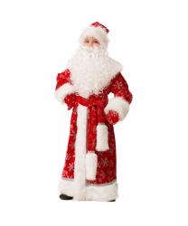 Дед Мороз велюровый, красный