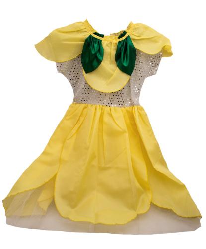 Платье Цветочек, желтое: платье (Польша)